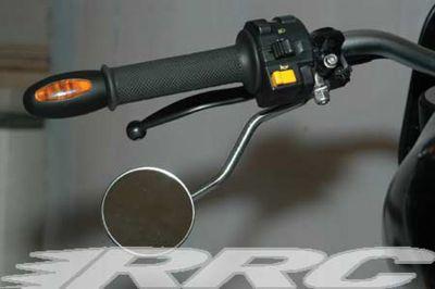 RRC Underhand Spiegel für alle Buell S1 - M2 und X1 Modelle, Gehäuse rund verchromt