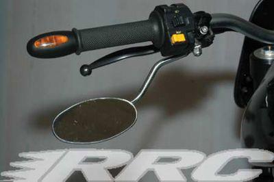 RRC Underhand Spiegel für alle Buell S1 - M2 und X1 Modelle, Gehäuse oval verchromt