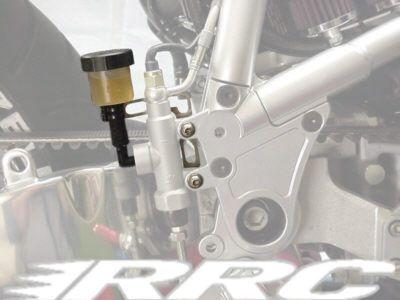 Bremsflüssigkeitsbehälter inkl. V2A Halterung und Anschlussschlauch für Buell X1 Modelle