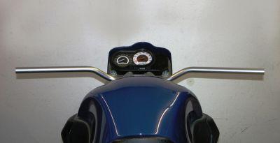 865 mm breiter klassischer Superbike Lenker aus Stahlrohr mit 22 mm Durchmesser