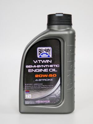 Bel-Ray 20W-50 V-Twin teilsynthetisches Motoröl 1 Liter (1,05 Quart) [RRC 2310]