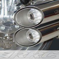 RRC Aluminium Endkappen für alle Sebring V-Rod Schalldämpfer. Kompletter Kitt inkl. V2A Schrauben
