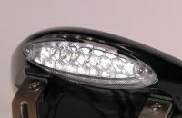 LED Rückleuchte inkl. Kennzeichenbeleuchtung Glas transparent - Größe ca. 110 mm x 34 mm