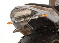 LED Superbike Rücklicht, Glas transparent mit integrierter Kennzeichenbeleuchtung - Größe 192 mm x 62 mm