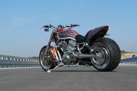 Superbike Rücklicht rotes Glas mit integrierter Kennzeichenbeleuchtung - Größe 192 mm x 62 mm