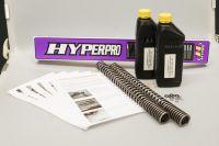 Hyperpro Progressive Gabelfedern Satz inkl. Shim Paket zur Anpassung des Dämpferventils, Montageanleitung für Gabelfedern und Änderung des Dämpferventiels für alle V-Rod Muscle Modelle Bj. 09-17 inkl. 2L GP5 Gabelöl
