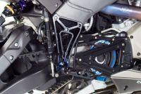 Zurückverlegte Fussrastenanlage für alle Buell XB Modelle mit Excenterverstellung individuell Serie.