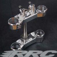 RRC Gabelbrücke Aluminium poliert für alle Buell X1 und S1 Modelle mit dreifacher Klemmung unten