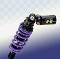 Spezielles Hyperpro Federbein für alle Buell XB-S und -R Modelle, ermöglicht die Montage der um 50 mm längeren Hinterradschwinge der Buell Ss Modelle